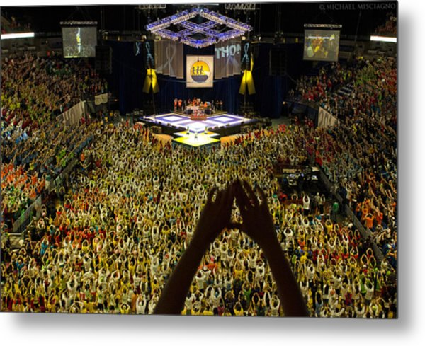 Thon Diamonds Up Metal Print