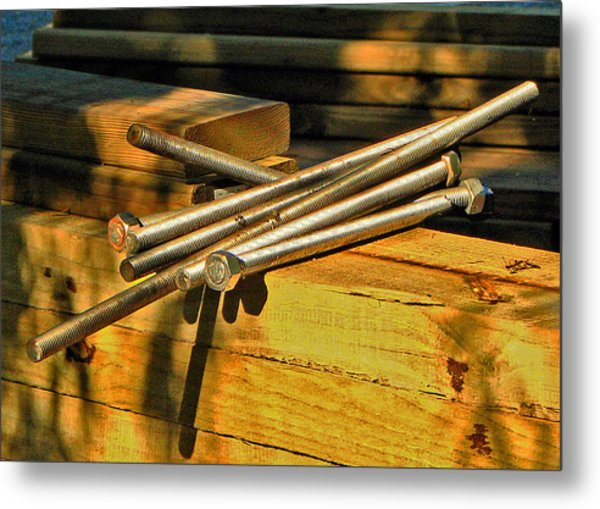 Threads And Grains Metal Print