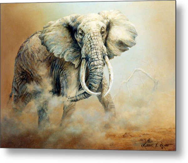 Threat Charge Metal Print by Kathleen V  Butts