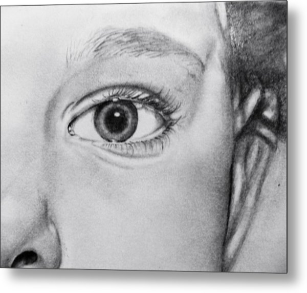Through The Eye Metal Print by Andrea Realpe