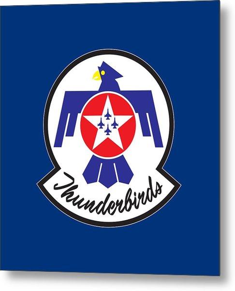 Thunderbirds Logo Metal Print