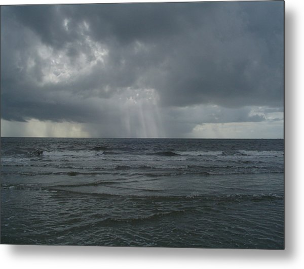 Thunderstorm Over The Ocean Metal Print by Richard Marcus