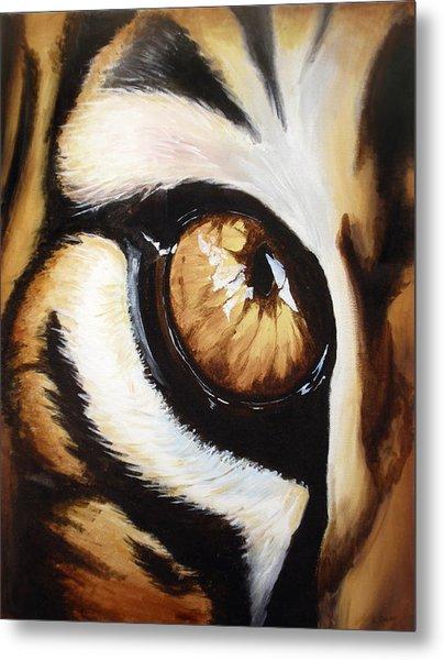 Tiger's Eye Metal Print by Lane Owen