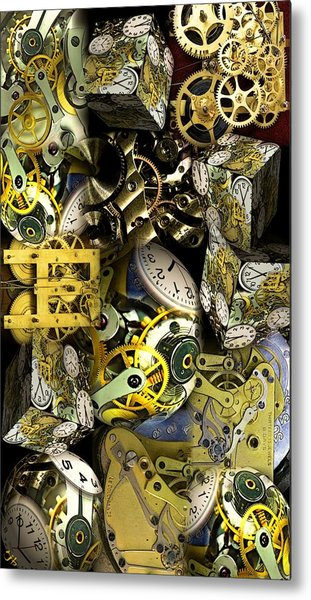 Time Is Stacking Up Metal Print
