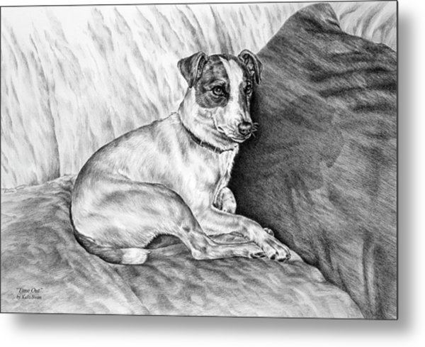 Time Out - Jack Russell Dog Print Metal Print