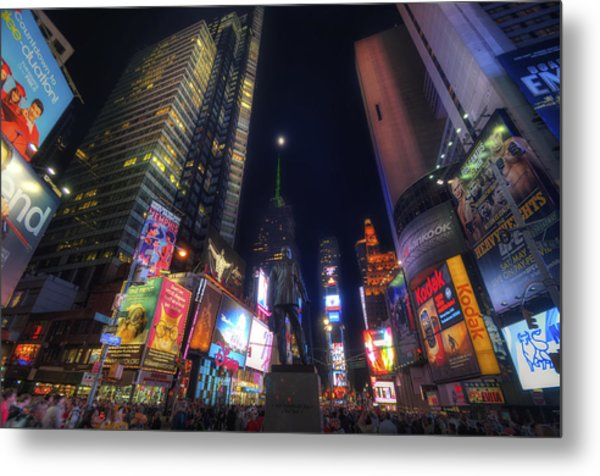 Times Square Moonlight Metal Print