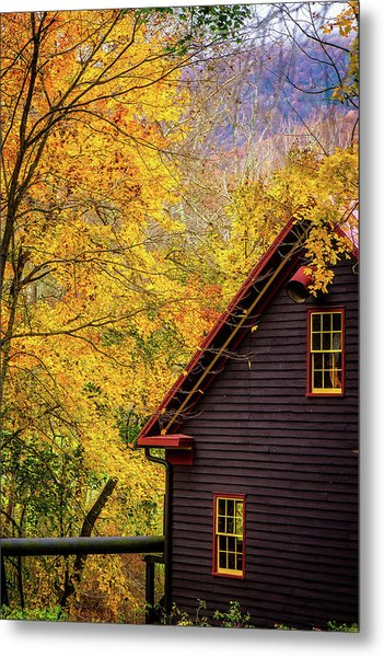 Tingler's Mill In Fall Metal Print