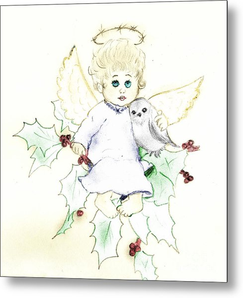 Tinted Little Angel Metal Print