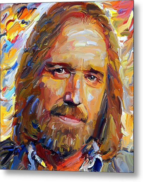 Tom Petty Tribute Portrait 1 Metal Print
