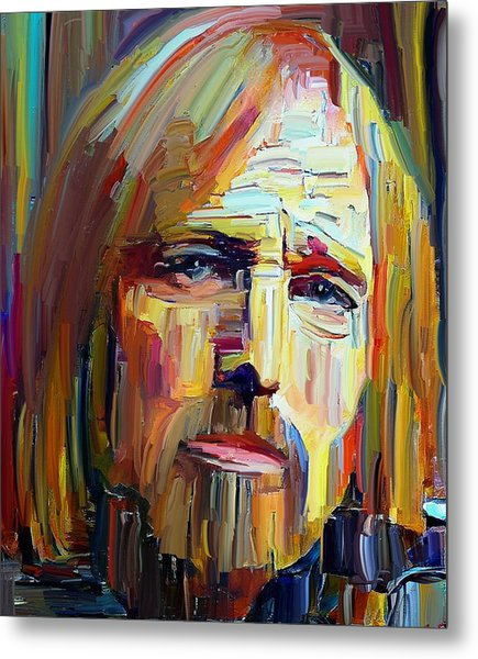 Tom Petty Tribute Portrait 4 Metal Print
