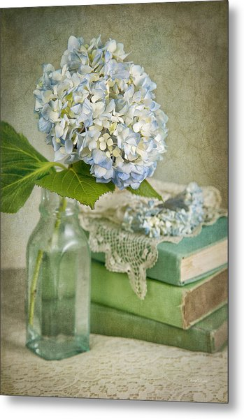 Touch Of Blue Metal Print