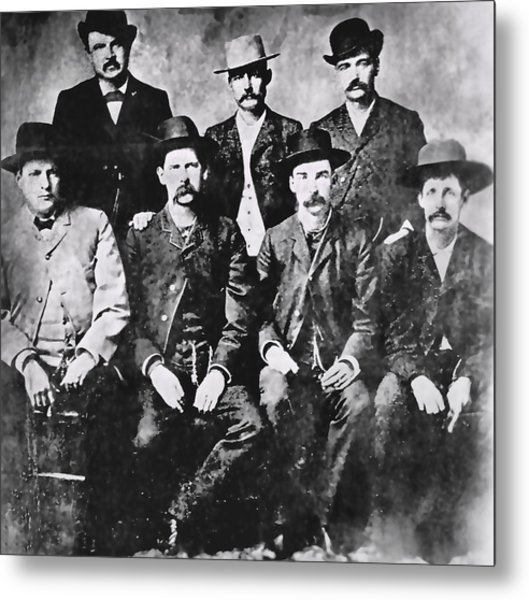 Tough Men Of The Old West Metal Print