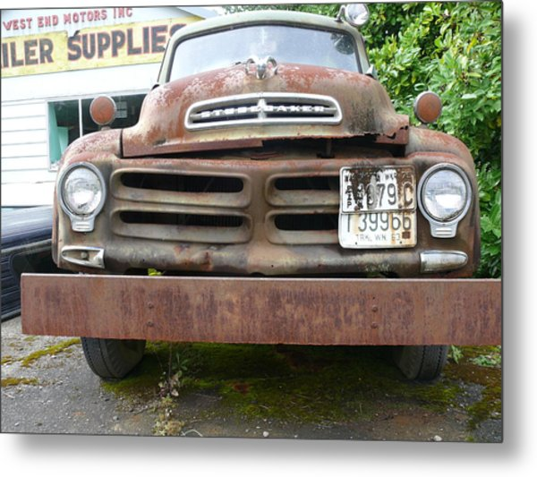 Tow Truck - Forks Washington Metal Print