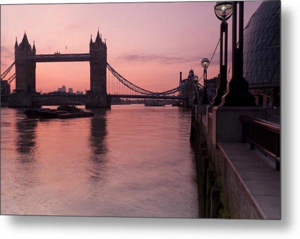 Tower Bridge Sunrise Metal Print by Donald Davis
