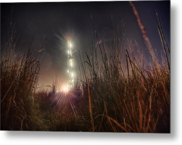 Towering Oil Metal Print