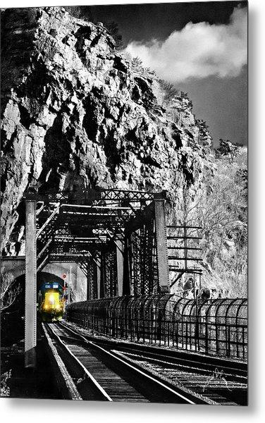 Train At Harpers Ferry Metal Print by Williams-Cairns Photography LLC