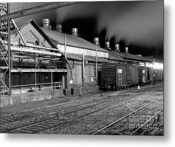 Train Yard Metal Print