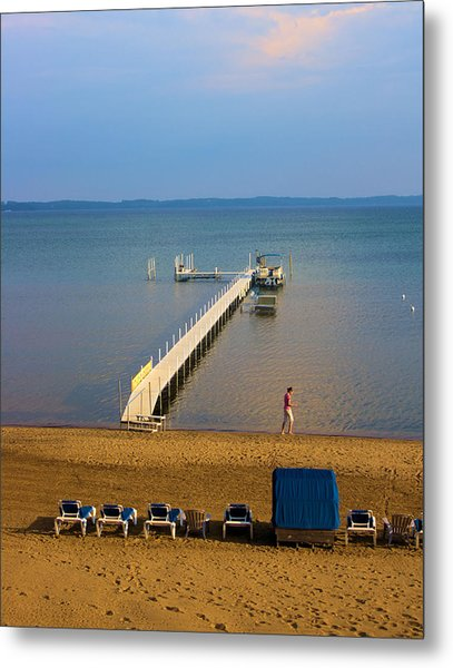 Traverse City East Bay Metal Print by Don  Vella