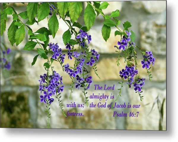 Tree Branches With Purple Flowers Ps.46 V 7 Metal Print