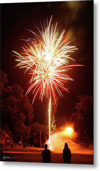 Tree Of Fire Metal Print