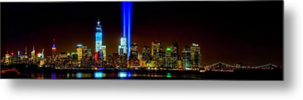 Tribute In Light From Bayonne Metal Print