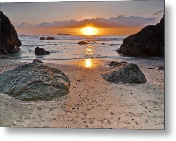 Trinidad State Beach Sunset Metal Print