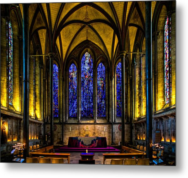 Trinity Chapel Salisbury Cathedral Metal Print