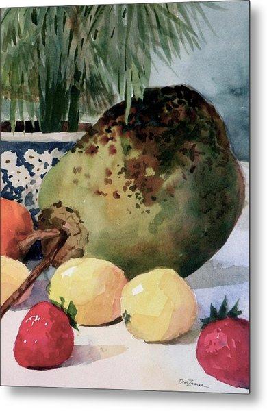 Tropical Fruit Metal Print by Faye Ziegler