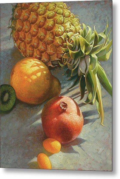 tropical Fruit Large Metal Print