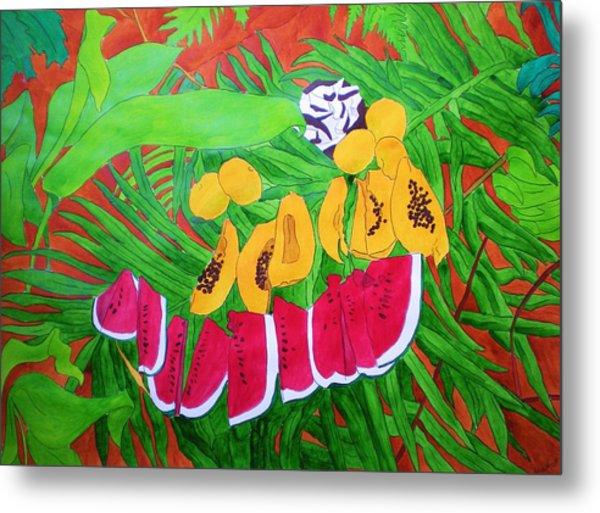 Tropical Fruits Metal Print by Michaela Bautz