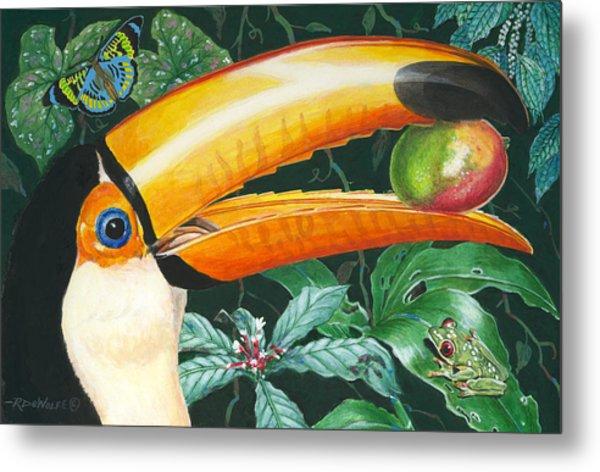 Tropical Rain Forest Toucan Metal Print