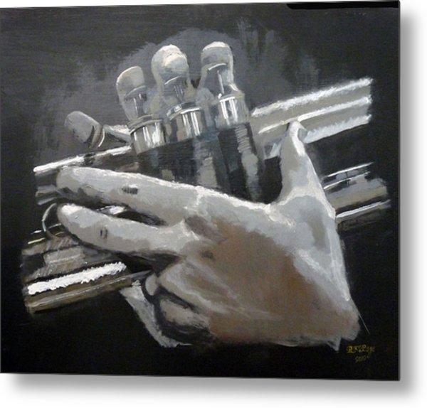 Trumpet Hands Metal Print