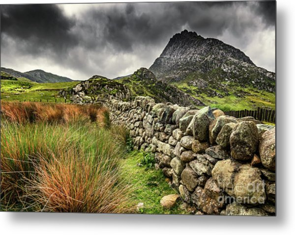 Tryfan Mountain East Face Metal Print