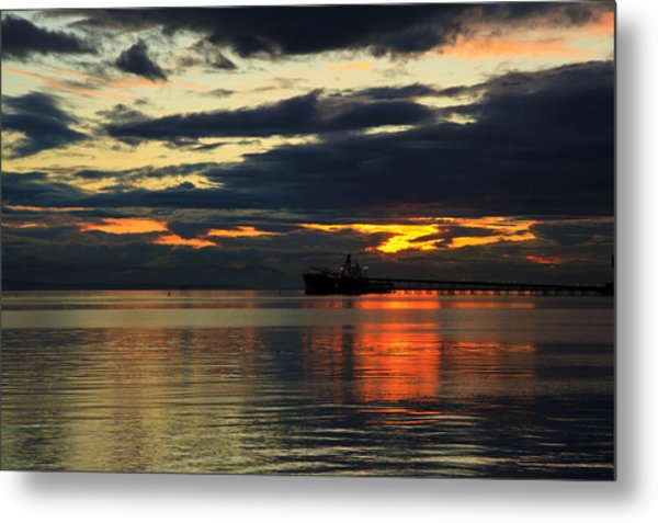 Tsawassen Sunset Metal Print