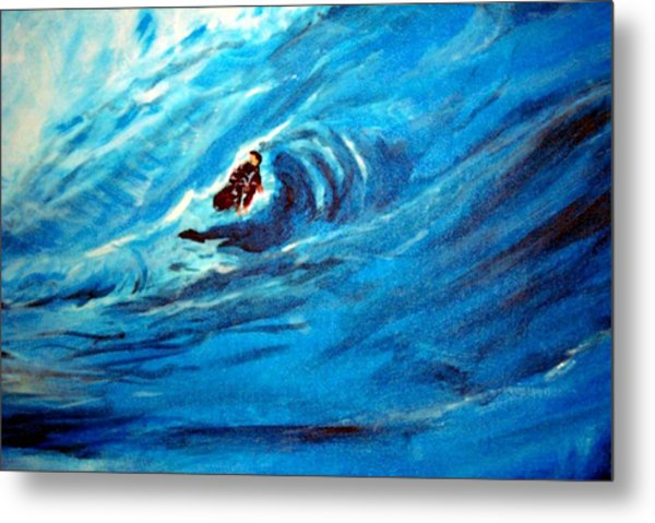 Tube Riding The Banzai Pipeline Metal Print