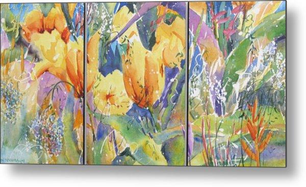 Tulip Triptych Metal Print