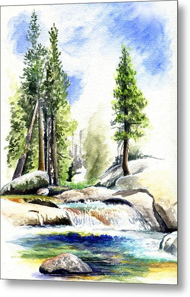 Tuolumne River On An August Afternoon Metal Print