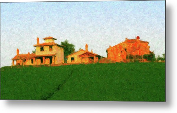 Tuscan Farmhouse Metal Print