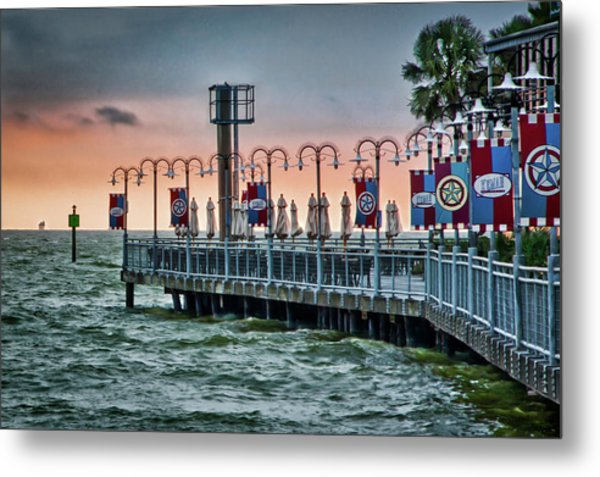 Twilight At Kemah Metal Print