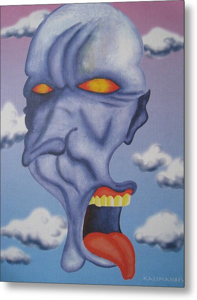 Twisted Face Metal Print by Roger Golden