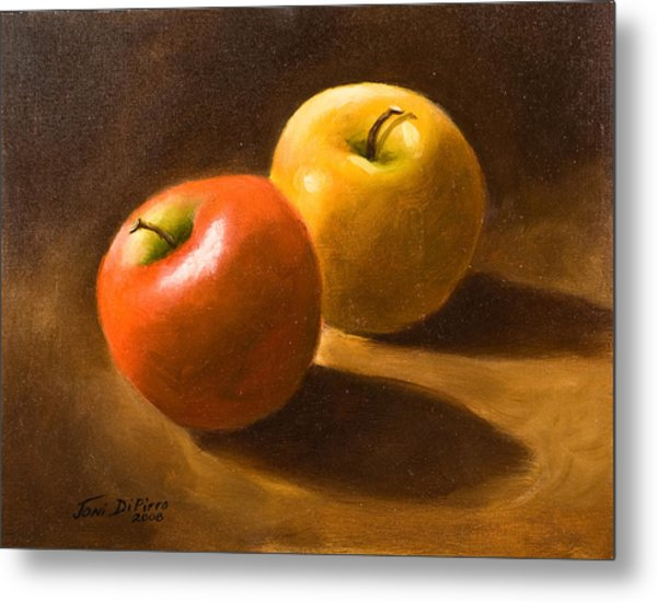 Two Apples Metal Print by Joni Dipirro
