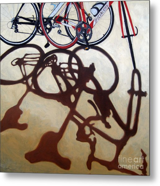 Two Bicycles Metal Print