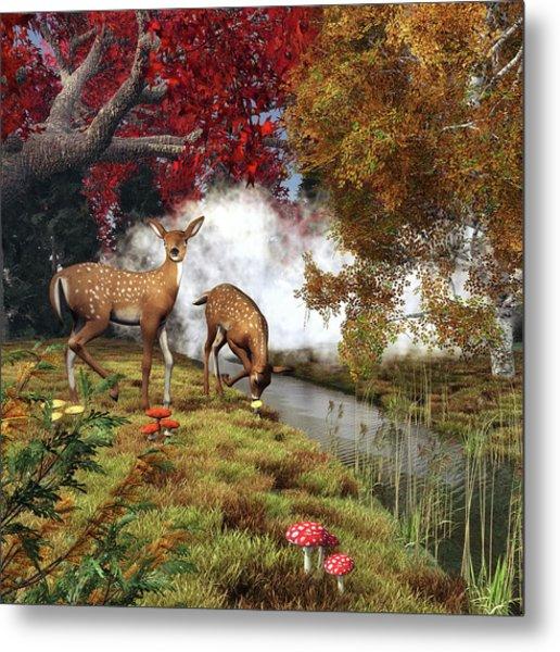 Two Deers Metal Print