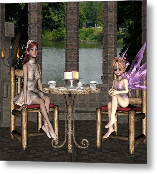 Two For Tea Metal Print by Morning Dew