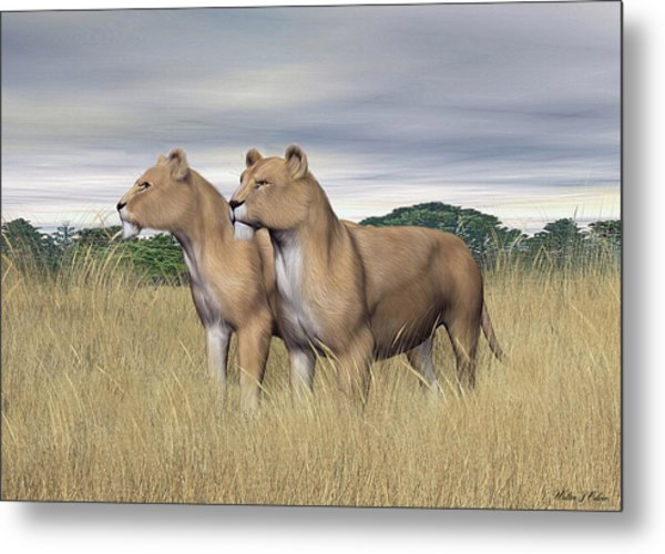 Two Hunters Metal Print