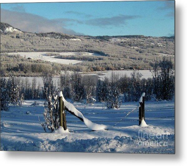 Tyee Lake From Hi-road, Winter Metal Print