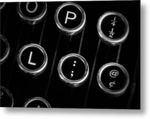 Typewriter Keyboard II Metal Print