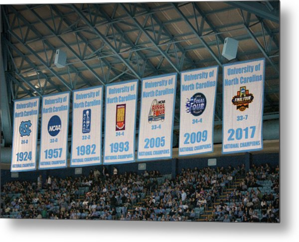 Unc-ch Championship Banners Metal Print