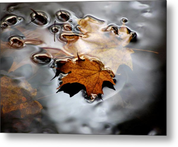 Under Water Fall Metal Print