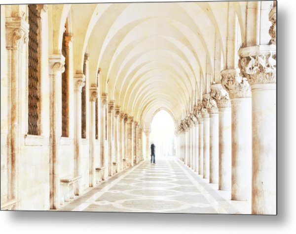 Underneath The Arches Metal Print